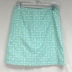 Vineyard Vines Green Lifesaver Print Midi Skirt